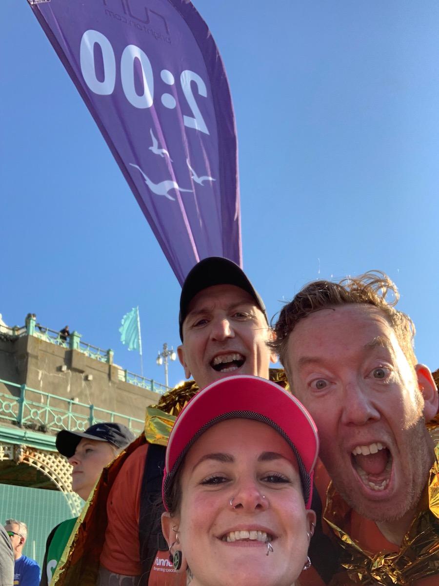 Brighton Half Marathon 2 hour pacer 2019- Tess Agnew fitness blogger