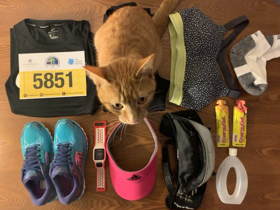Brighton Half Marathon 2019 flatlay Tess Agnew fitness blogger
