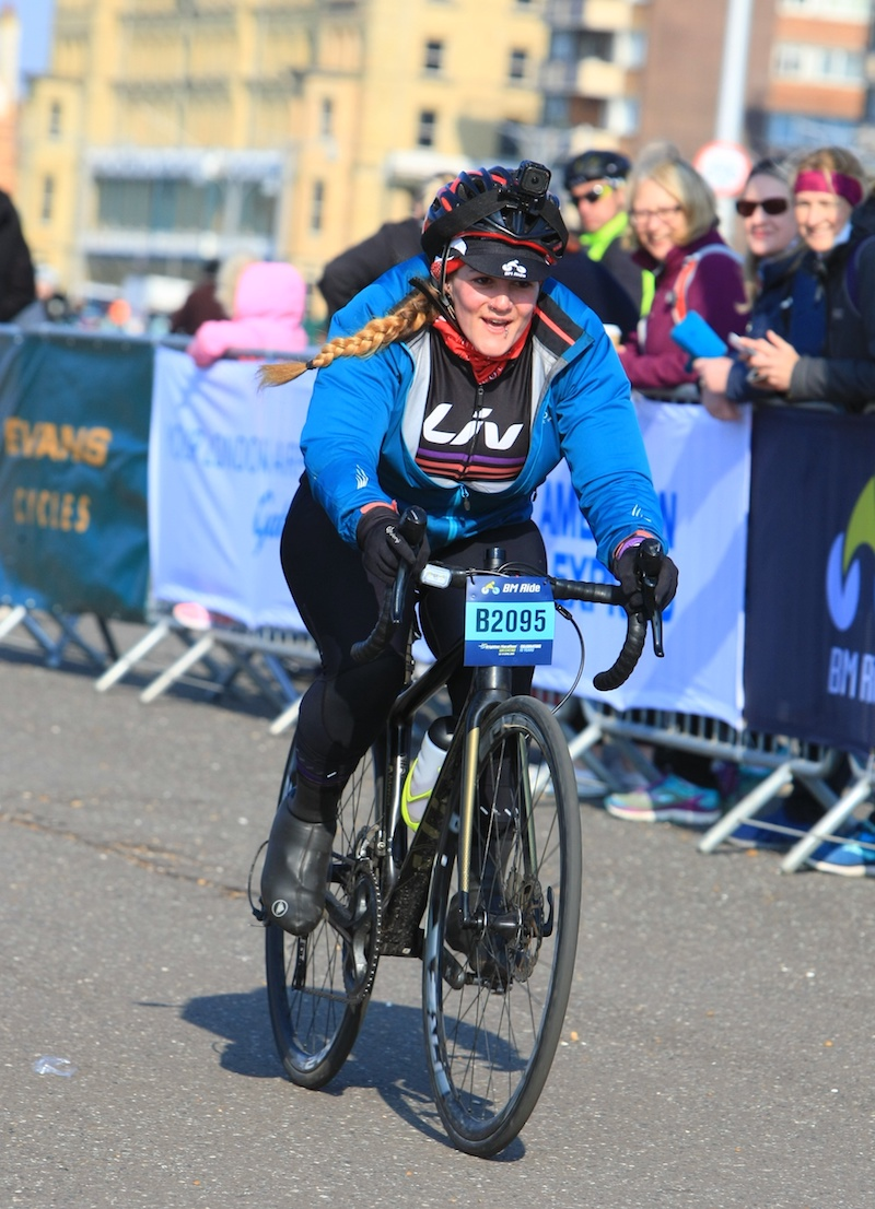 BM Ride Brighton Marathon Weekend finish line Tess Agnew