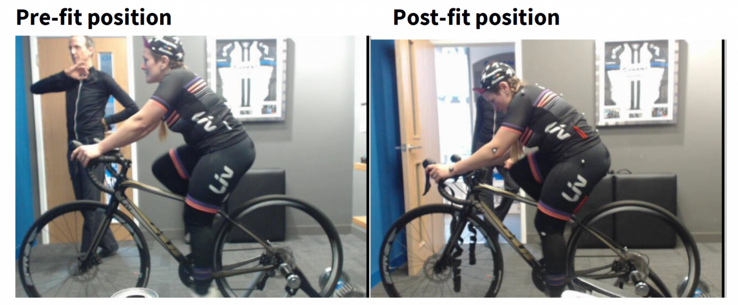 Bike fit Giant Shoreham Cadence Performance - Tess Agnew fitness blogger