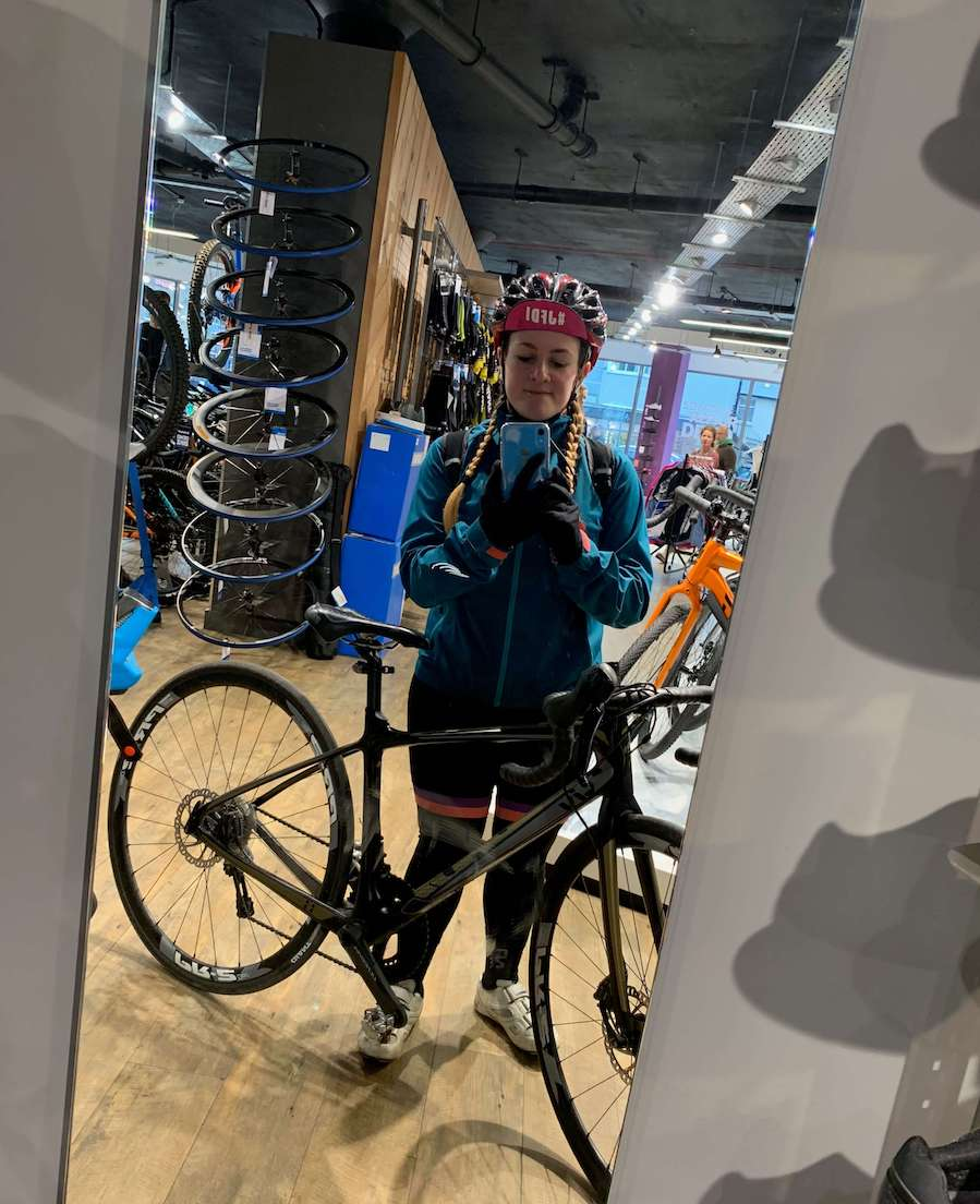 Bike fit Giant Shoreham - Tess Agnew fitness blogger
