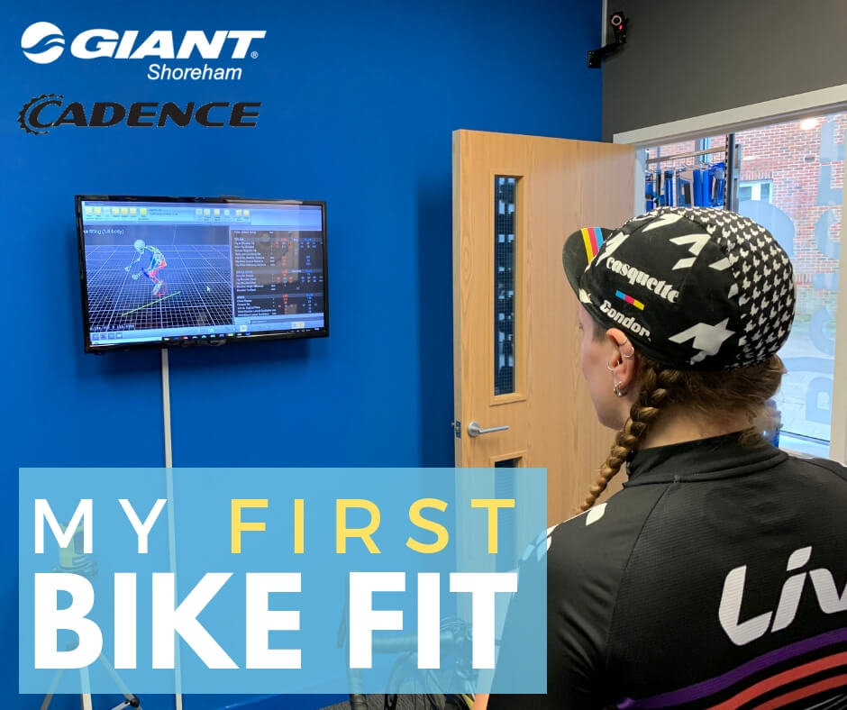 Bike fitting Giant Shoreham - Tess Agnew fitness blogger