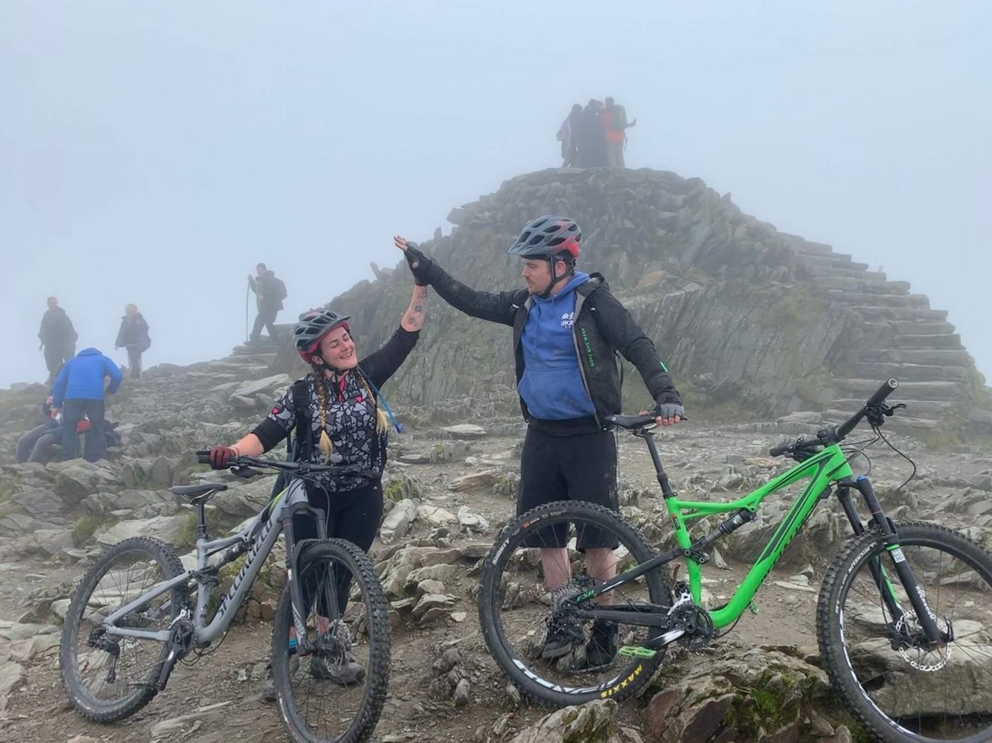 Mountain biking on Snowdon