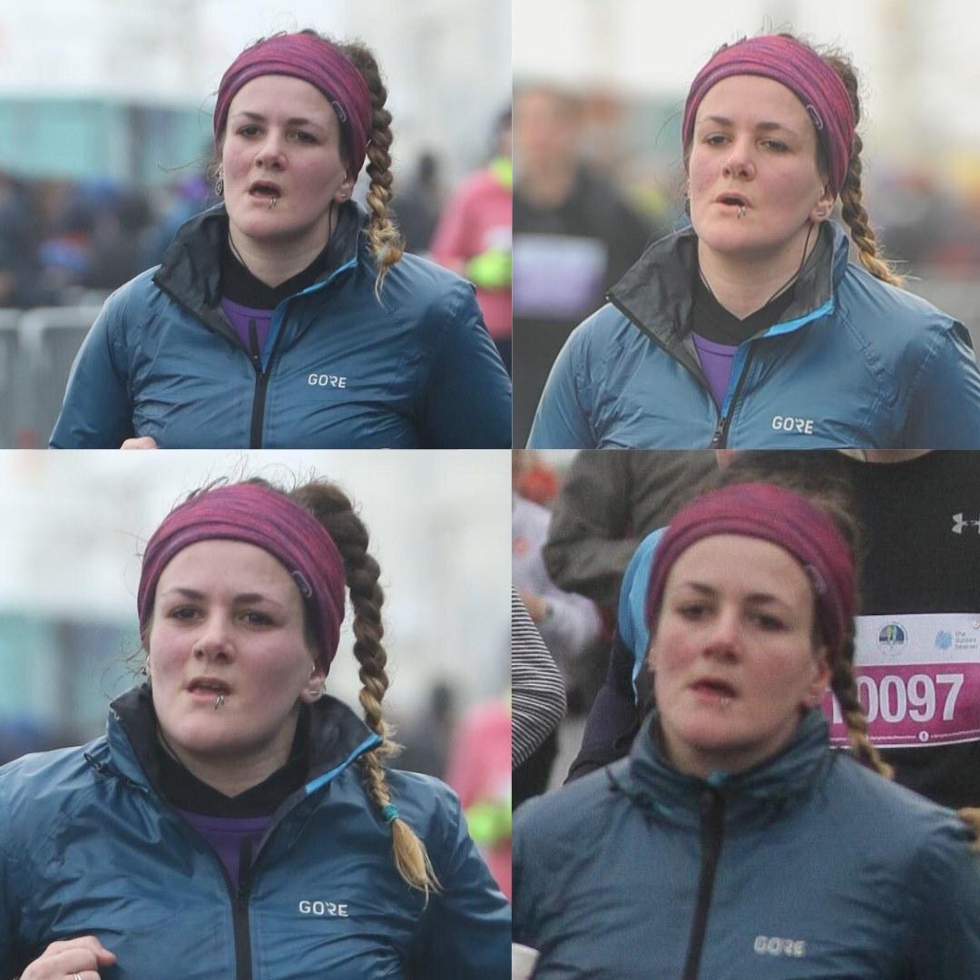 Tess Agnew runner during 2020 Brighton Half Marathon