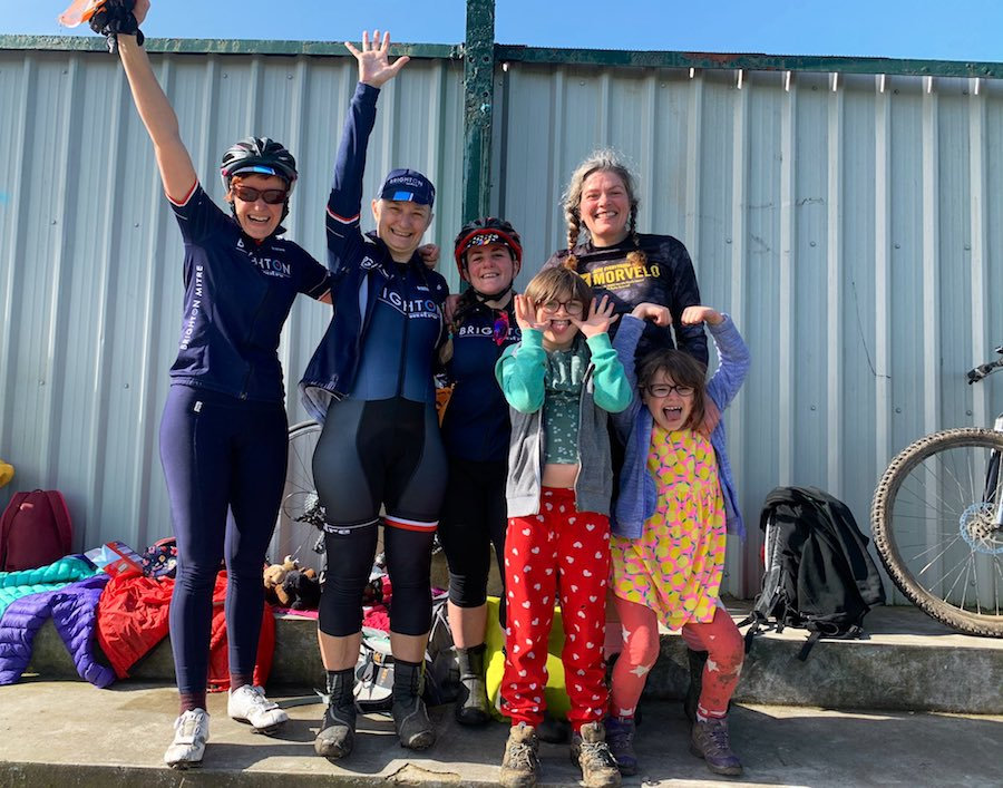 Brighton Mitre women at Preston Park circuit race
