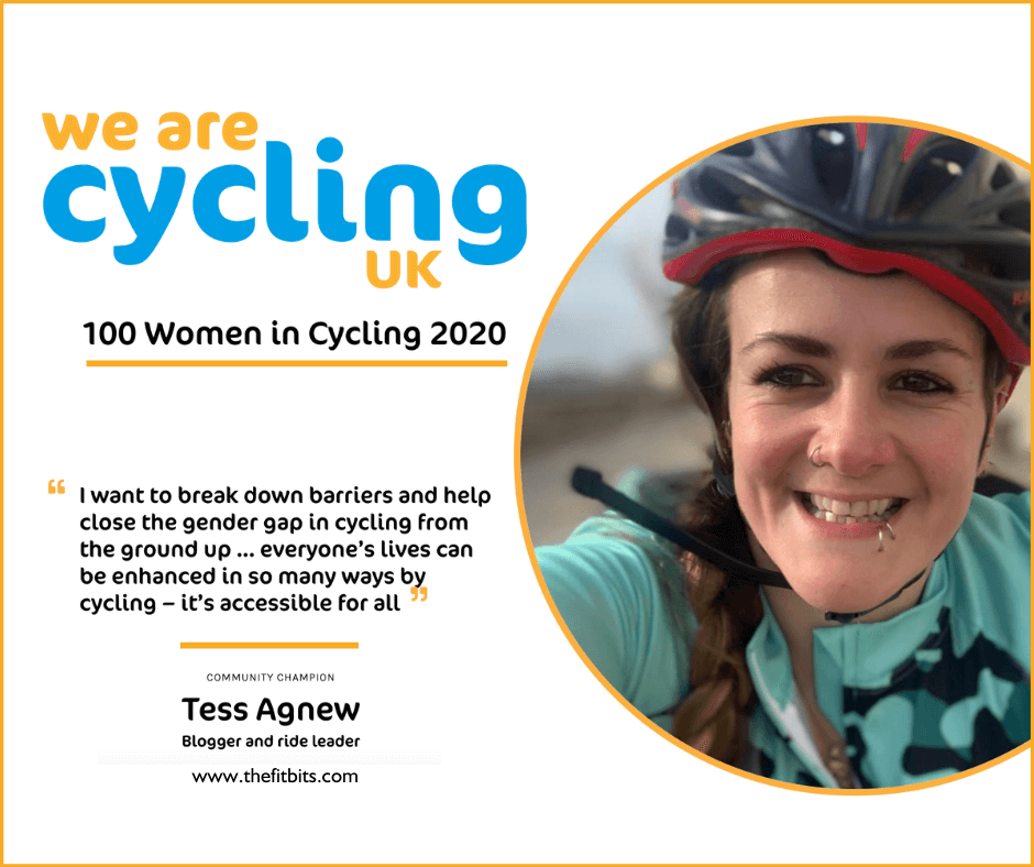 Cycling UK 100 Women in Cycling - Tess Agnew, blogger